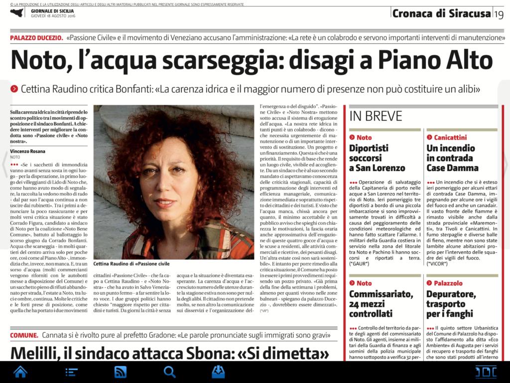 articolo giornale di sicilia