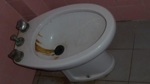 GUASTO DA TEMPO IL WC DELL'EMEROTECA COMUNALE